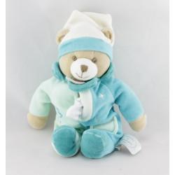 Doudou et compagnie pantin ours bleu mouchoir