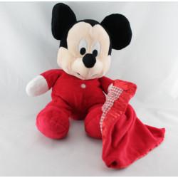 Doudou Mickey rouge avec mouchoir vichy DISNEY NICOTOY