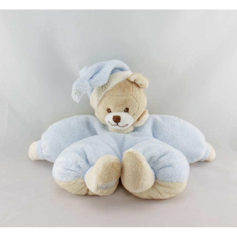 Doudou ours bleu écru BUKOWSKI