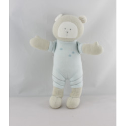 Doudou ours beige bleu sac cosmonaute PETIT BATEAU