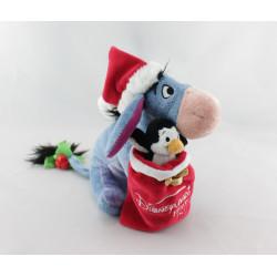 Peluche Bourriquet Noël  sac avec pingouin  Collection Disney