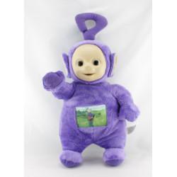 Doudou peluche TELETUBBIES violet Tinky Winky écran TOMY