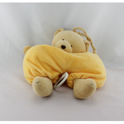 Doudou musical Ours beige blanc jaune Comptine