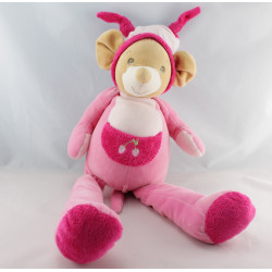 Grand Doudou souris rose Cerise NOUNOURS 85 cm