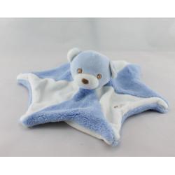Doudou plat étoile ours bleu blanc BESTEVER 2011
