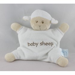 Doudou semi plat mouton blanc Baby Sheep KING BEAR