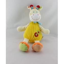 Doudou Girafe jaune orange pomme MOTS D'ENFANTS