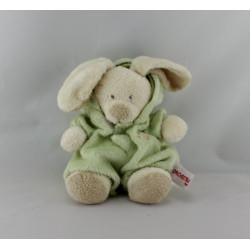 Doudou lapin déguisé en ours vert ORCHESTRA