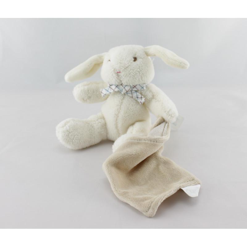 Doudou lapin Oscar mouchoir Minirêves COROLLE