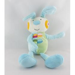Doudou lapin bleu vert BAWI