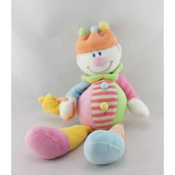 Doudou Clown multicolore couronne baguette étoile JOLLYBABY
