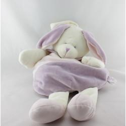 Doudou range pyjama Lapin rose mauve ballon Baby nat
