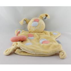 Doudou plat marionnette chien jaune NATTOU