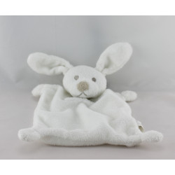 Doudou plat lapin blanc GRAIN DE BLE