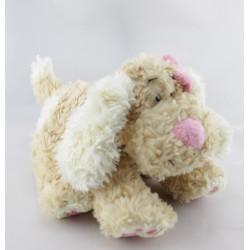Doudou chien beige nez rose ANNA CLUB PLUSH