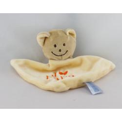Doudou plat ours jaune j'aime Papa BABY BLUE