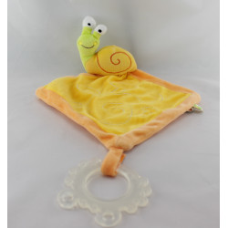 Doudou plat escargot jaune orange vert LIBOO