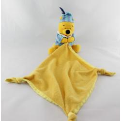 Doudou winnie pyjama rayé bleu mouchoir DISNEY