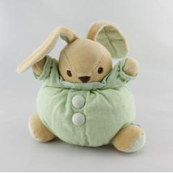 Doudou boule lapin vert NOUNOURS