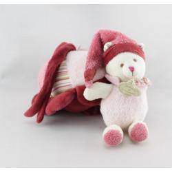 Doudou et compagnie musical chat Minouchette Bordeaux rose
