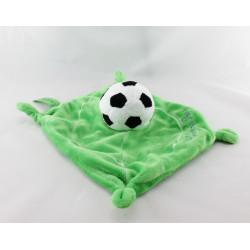 Doudou plat vert ballon Football COMME PAPA