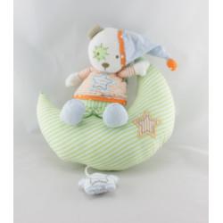 Doudou musical lune ours orange vert bleu Beauty Sleep BABY SUN