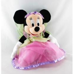 Peluche souris Minnie princesse fée rose verte DISNEYLAND