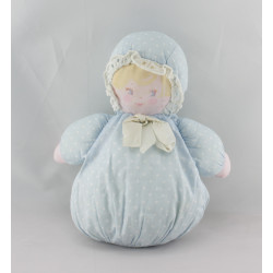 Doudou poupée chiffon bleu pois COROLLE MEUNIER