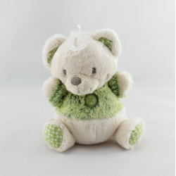 Doudou Ours beige vert Nicotoy