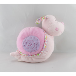 Doudou escargot rose grelot GIPSY
