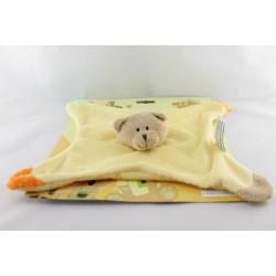 Doudou plat ours jaune vert orange Dodo d'amour MGM