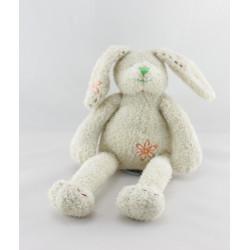 Doudou lapin beige fleurs HAPPY HORSE