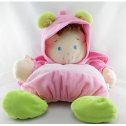 Doudou range pyjama fillette déguisé en papillon rose NICOTOY