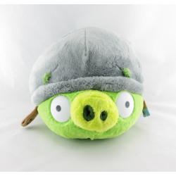 Peluche cochon Piggy ANGRY BIRDS vert casque