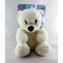 Peluche Doudou ours blanc GIPSY