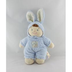 Doudou garçon déguisé en lapin bleu NICOTOY