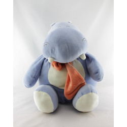 Doudou hippopotame bleu écharpe orange PARTNER JOUET
