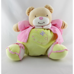 Doudou ours patapouf jaune rose papillon MGM