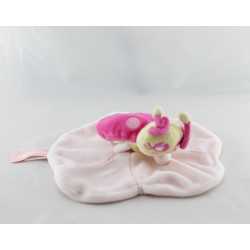 Doudou plat coccinelle rose ORCHESTRA
