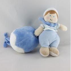 Doudou musical poupée garçon bleu marin BABY LUNA