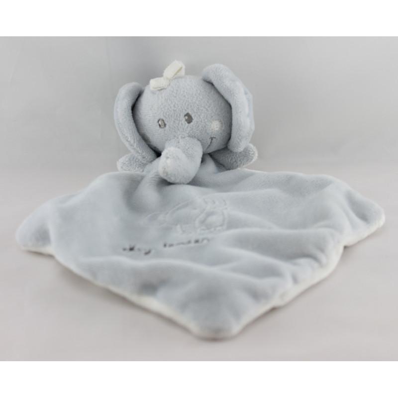 Doudou plat éléphant gris My Tender Doudou