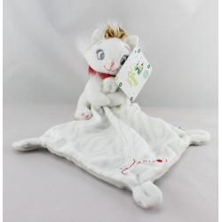 Doudou plat chat blanc Marie Les Aristochats mouchoir DISNEY BABY