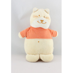 Doudou chat beige pull orange BENGY