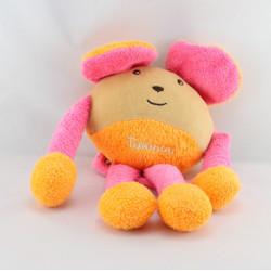 Doudou souris beige rose orange TAKINOU