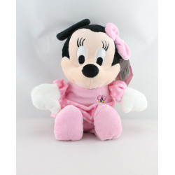 Peluche musical Minnie robe rose à pois DISNEY NICOTOY