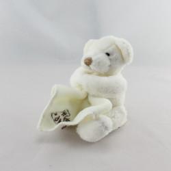 Doudou ours blanc mouchoir HISTOIRE D'OURS