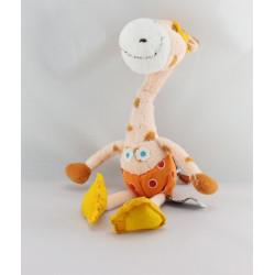 Doudou girafe tenue de plongée CARRE BLANC