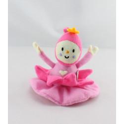 Doudou attache tétine poupée rose BAMBISOL