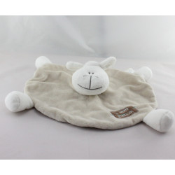 Doudou  plat mouton beige rayé BY PETIT KIMBALOO