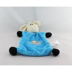 Doudou plat mouton bleu BRIOCHE